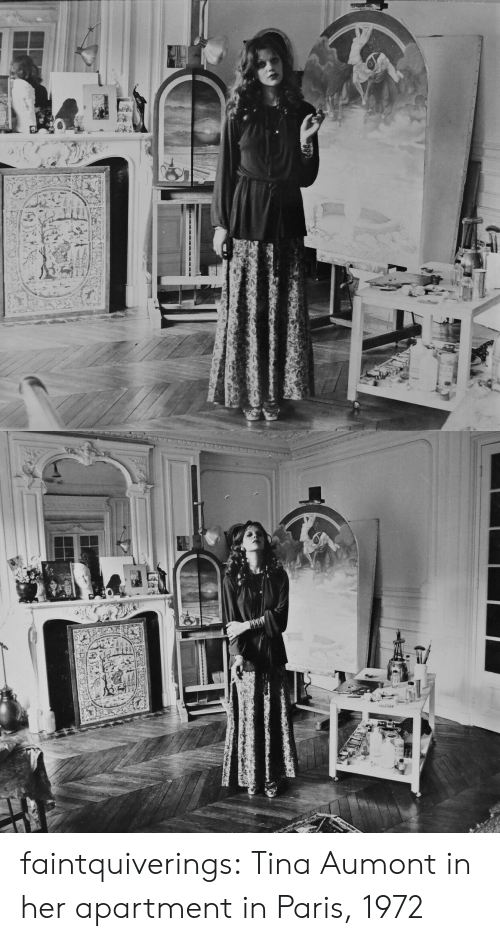 Paris: LETANE faintquiverings: Tina Aumont in her apartment in Paris, 1972