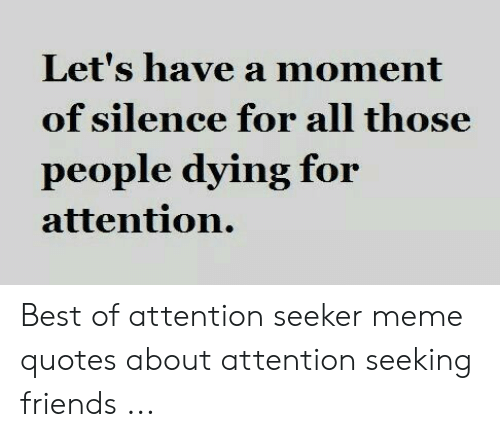 Let\'s Have a Moment of Silence for All Those People Dying ...