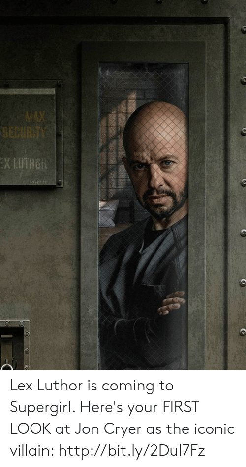 Dank, Http, and Iconic: Lex Luthor is coming to Supergirl. Here's your FIRST LOOK at Jon Cryer as the iconic villain: http://bit.ly/2Dul7Fz