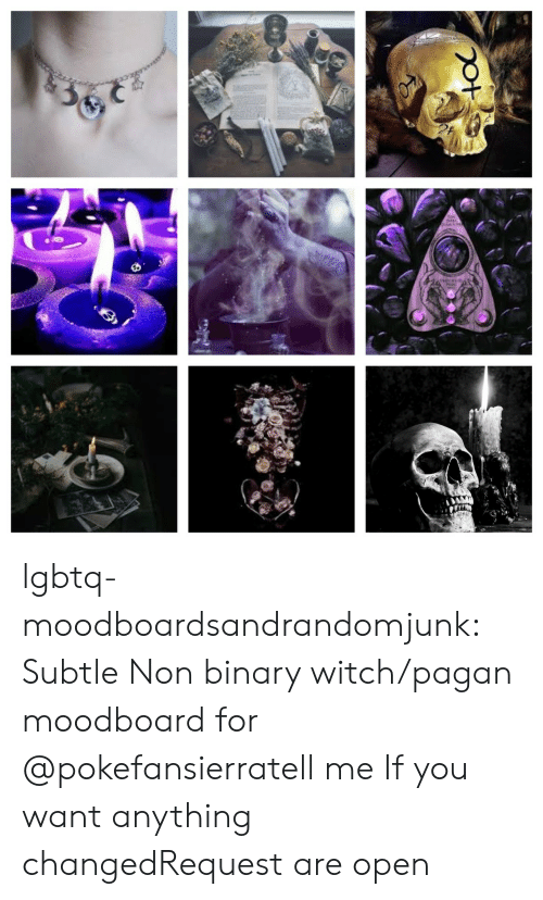 non binary: lgbtq-moodboardsandrandomjunk:  Subtle Non binary witch/pagan moodboard for @pokefansierratell me If you want anything changedRequest are open