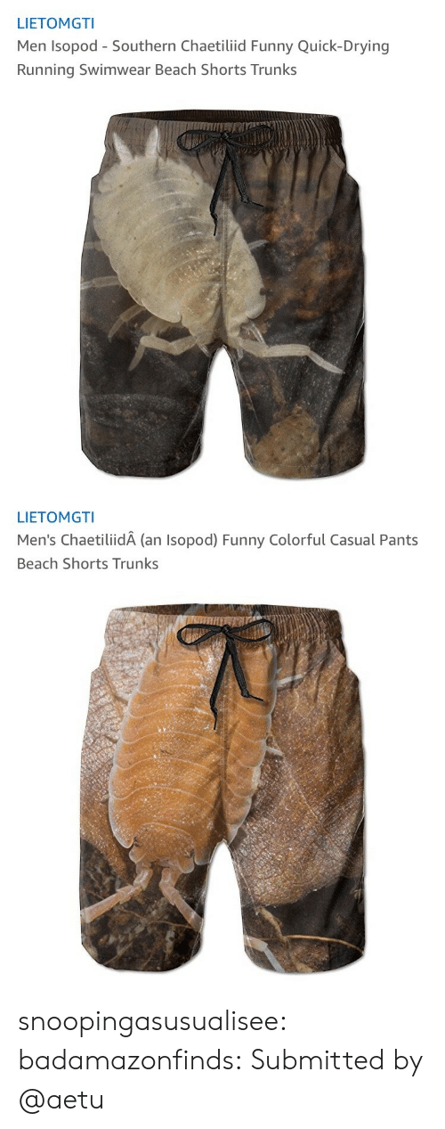 Trunks: LIETOMGTI  Men Isopod - Southern Chaetiliid Funny Quick-Drying  Running Swimwear Beach Shorts Trunks   LIETOMGTI  Men's ChaetiliidA (an Isopod) Funny Colorful Casual Pants  Beach Shorts Trunks snoopingasusualisee: badamazonfinds: Submitted by @aetu