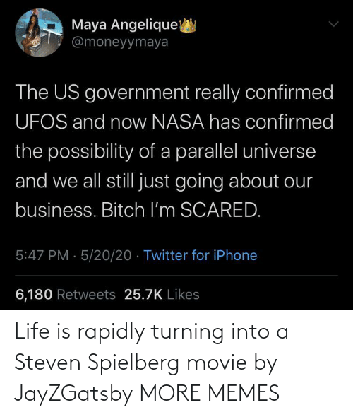 Movie: Life is rapidly turning into a Steven Spielberg movie by JayZGatsby MORE MEMES