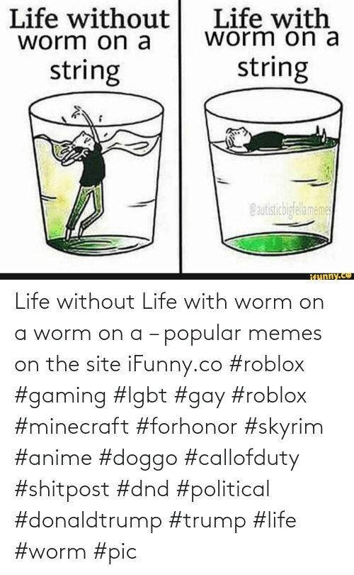 Trump: Life without Life with worm on a worm on a – popular memes on the site iFunny.co #roblox #gaming #lgbt #gay #roblox #minecraft #forhonor #skyrim #anime #doggo #callofduty #shitpost #dnd #political #donaldtrump #trump #life #worm #pic