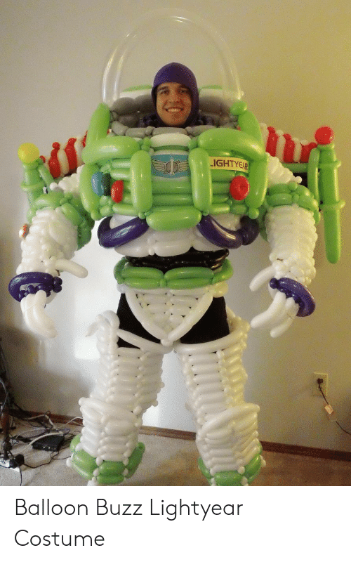 Buzz Lightyear, Balloon, and Buzz: LIGHTYEAR Balloon Buzz Lightyear Costume