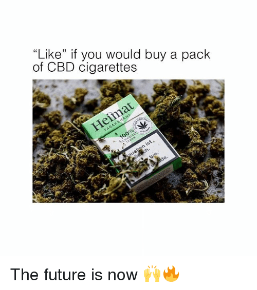 "Future, Memes, and 🤖: ""Like"" if you would buy a pack  of CBD cigarettes The future is now 🙌🔥"