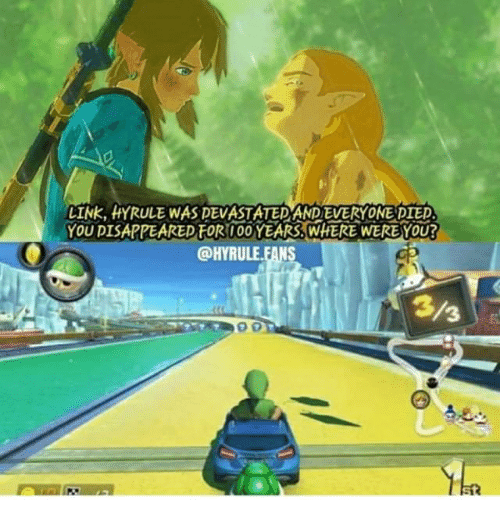 Link, You, and For: LINK, HYRULE WAS DEVASTATEDAND EVERYONE PIED  YOU DISAPPEARED FOR 10O YEARS WHERE WERE YOU?  @HYRULE.FANS