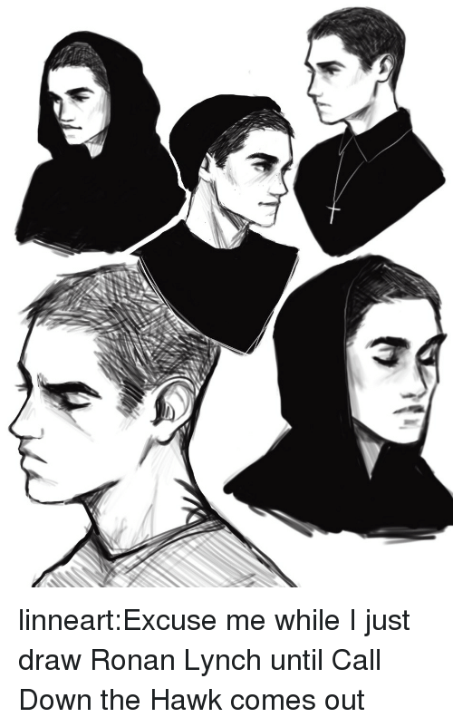 Target, Tumblr, and Blog: linneart:Excuse me while I just draw Ronan Lynch until Call Down the Hawk comes out