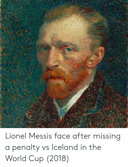 Lionel Messi, World Cup, and Iceland: Lionel Messis face after missing a penalty vs Iceland in the World Cup (2018)