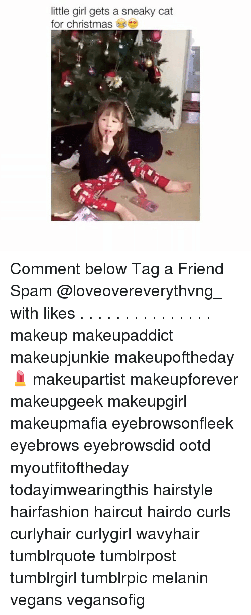 Sneakiness: little girl gets a sneaky cat  for christmas Comment below Tag a Friend Spam @loveovereverythvng_ with likes . . . . . . . . . . . . . . . makeup makeupaddict makeupjunkie makeupoftheday💄 makeupartist makeupforever makeupgeek makeupgirl makeupmafia eyebrowsonfleek eyebrows eyebrowsdid ootd myoutfitoftheday todayimwearingthis hairstyle hairfashion haircut hairdo curls curlyhair curlygirl wavyhair tumblrquote tumblrpost tumblrgirl tumblrpic melanin vegans vegansofig