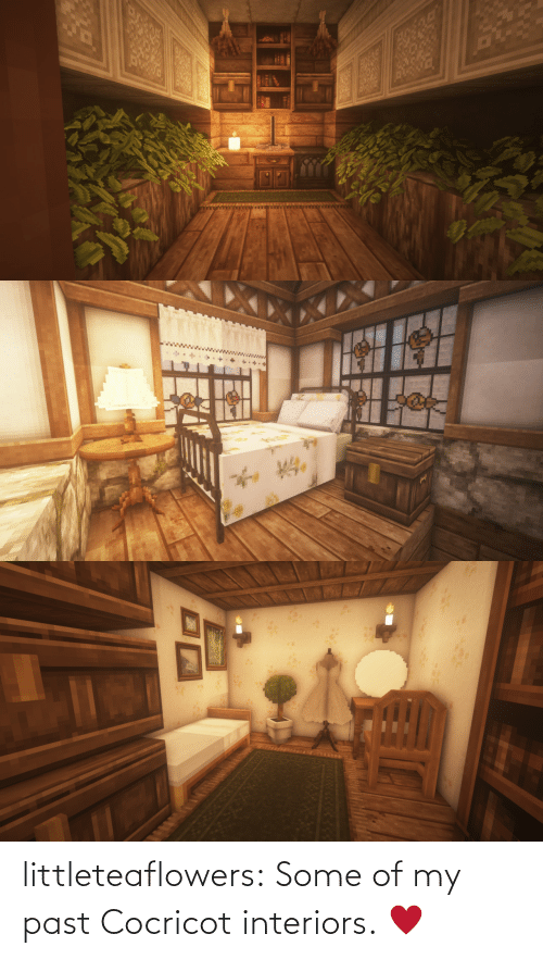 Past: littleteaflowers:  Some of my past Cocricot interiors. ♥