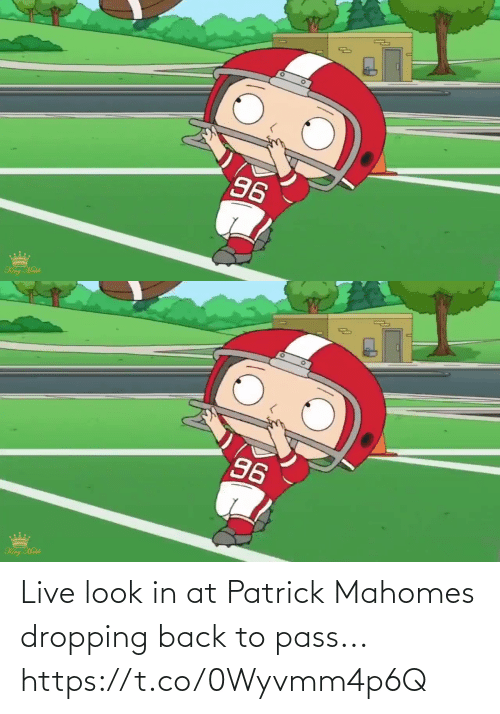Mahomes: Live look in at Patrick Mahomes dropping back to pass... https://t.co/0Wyvmm4p6Q