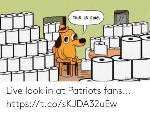 Patriotic: Live look in at Patriots fans... https://t.co/sKJDA32uEw