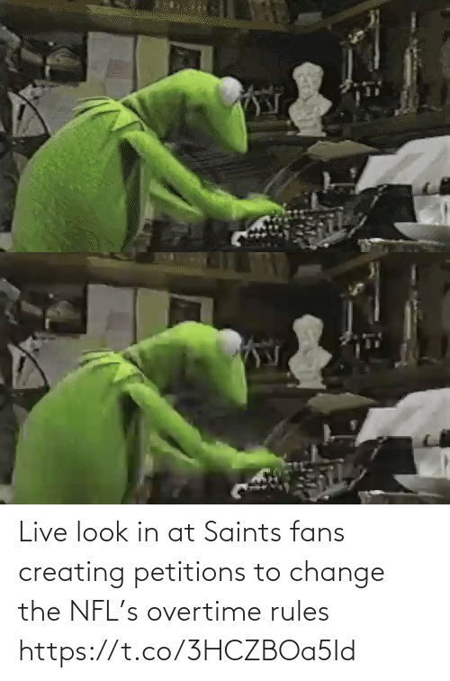 fans: Live look in at Saints fans creating petitions to change the NFL's overtime rules https://t.co/3HCZBOa5Id