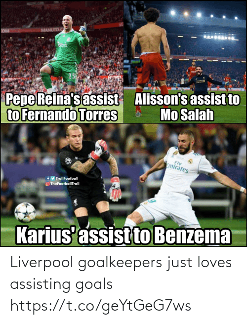loves: Liverpool goalkeepers just loves assisting goals https://t.co/geYtGeG7ws