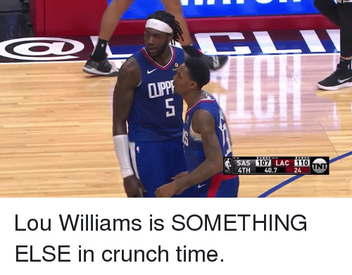 Andrew Bogut, Time, and Something Else: LLU  107 LAC 110  4TH 40.724 Lou Williams is SOMETHING ELSE in crunch time.