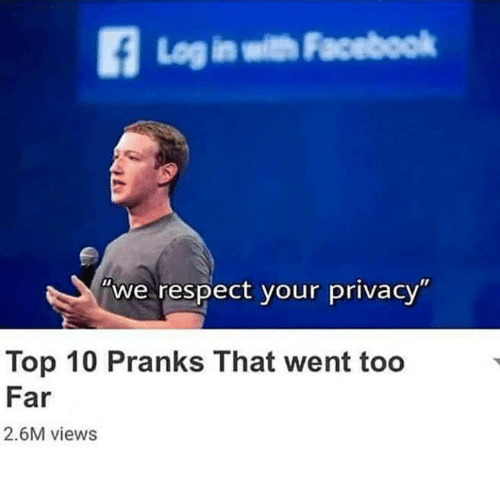 pranks: Log in with Facebook  we respect your privacy  Top 10 Pranks That went too  Far  2.6M views