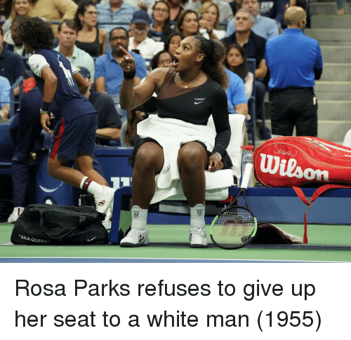 "Rosa Parks: ""LOGO""  ""AKA QUEEN"" Rosa Parks refuses to give up her seat to a white man (1955)"