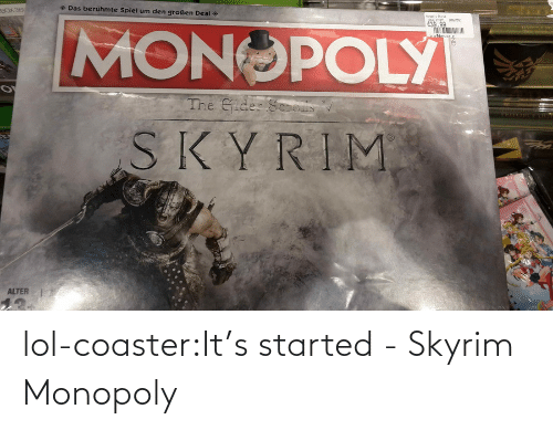 Monopoly: lol-coaster:It's started - Skyrim Monopoly
