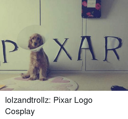 Pixar, Tumblr, and Blog: lolzandtrollz:  Pixar Logo Cosplay