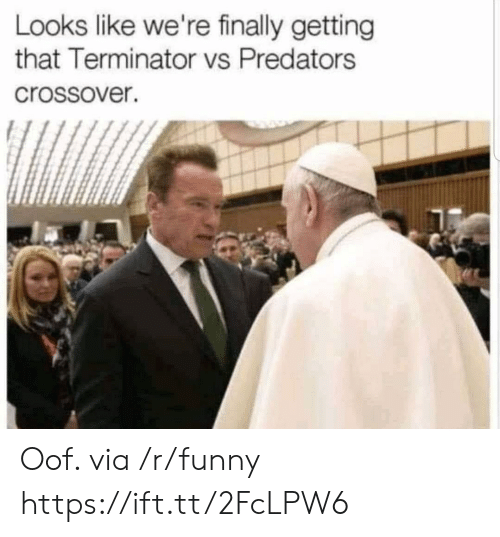 Funny, Terminator, and Predators: Looks like we're finally getting  that Terminator vs Predators  crossover. Oof. via /r/funny https://ift.tt/2FcLPW6