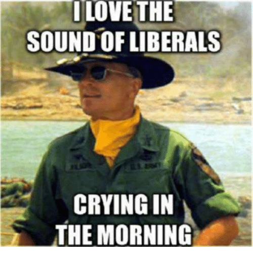 Liberal Crying: LOVE THE  SOUND OF LIBERALS  CRYING IN  THE MORNING