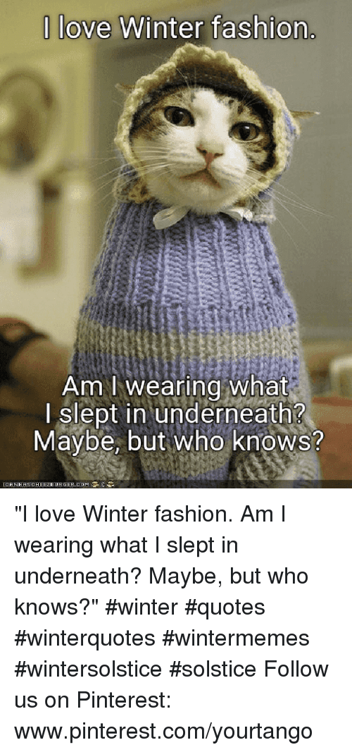 """Fashion, Love, and Winter: 