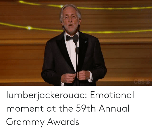 Grammy Awards, Target, and Tumblr: lumberjackerouac:  Emotional moment at the 59th Annual Grammy Awards
