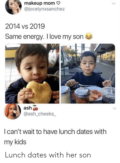 lunch: Lunch dates with her son