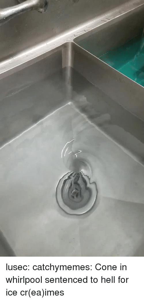 Target, Tumblr, and Blog: lusec:  catchymemes:  Cone in whirlpool    sentenced to hell for ice cr(ea)imes