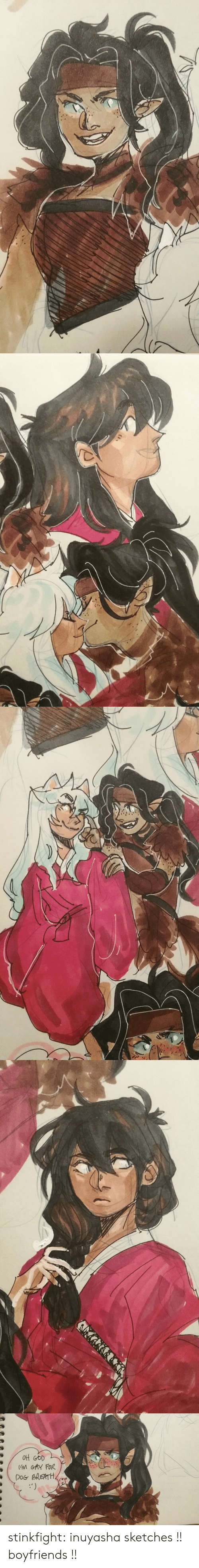 Target, Tumblr, and Blog: (M GAY FoR  DOG BREATH stinkfight:  inuyasha sketches !! boyfriends !!