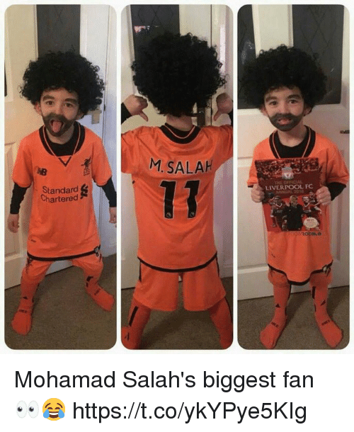 Soccer, Liverpool F.C., and Anal: M SALAH  Standard  Chartered  LIVERPOOL FC  ANAL 201 Mohamad Salah's biggest fan 👀😂 https://t.co/ykYPye5KIg