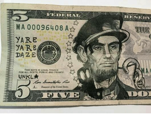 Dank, United, and 🤖: MA 000096408 A  EYARE  THIS NOTE IS LEGAL TENDER  FOR ALL DEBTS, PUBLIC AND PRIVATE  UNKLA  A1 efthe United States,