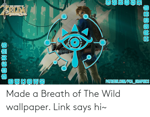 Wallpaper: Made a Breath of The Wild wallpaper. Link says hi~
