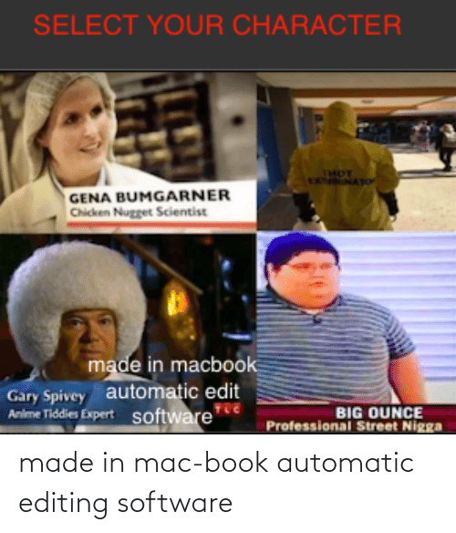 Book: made in mac-book automatic editing software