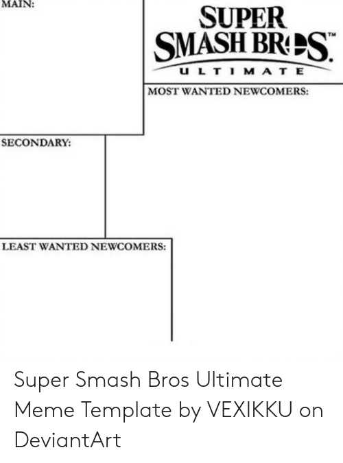 🅱️ 25+ Best Memes About Super Smash Bros Meme Template