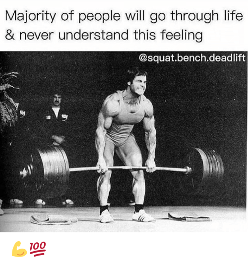 Squat: Majority of people will go through life  & never understand this feeling  @squat.bench.deadlift 💪💯