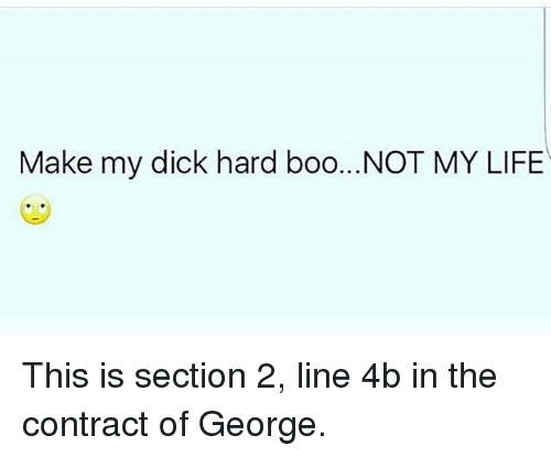 My dick is not hard