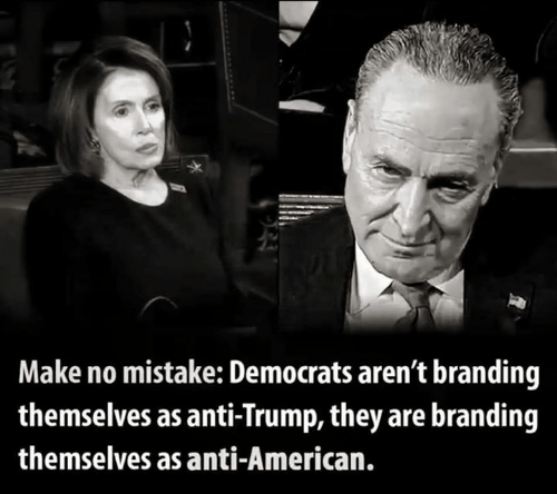 Memes, American, and Trump: Make no mistake: Democrats aren't branding  themselves as anti-Trump, they are branding  themselves as anti-American.