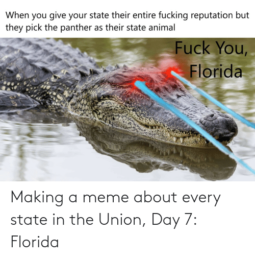 making a: Making a meme about every state in the Union, Day 7: Florida