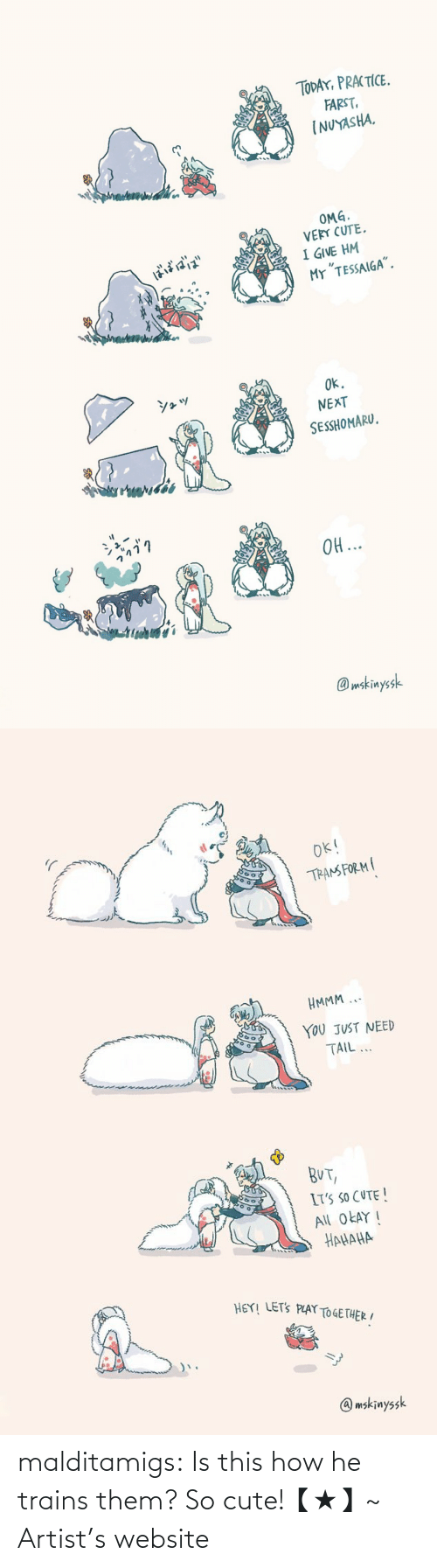 Twitter: malditamigs:  Is this how he trains them? So cute!【★】~ Artist's website