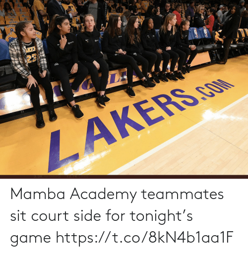 Memes, Academy, and Game: Mamba Academy teammates sit court side for tonight's game https://t.co/8kN4b1aa1F