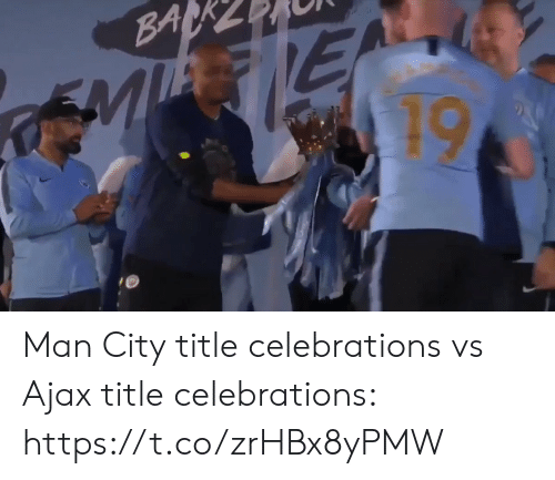 ajax: Man City title celebrations vs Ajax title celebrations: https://t.co/zrHBx8yPMW