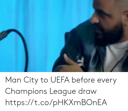 uefa: Man City to UEFA before every Champions League draw https://t.co/pHKXmBOnEA
