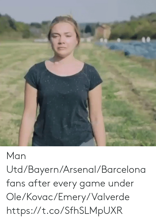 Barcelona: Man Utd/Bayern/Arsenal/Barcelona fans after every game under Ole/Kovac/Emery/Valverde  https://t.co/SfhSLMpUXR
