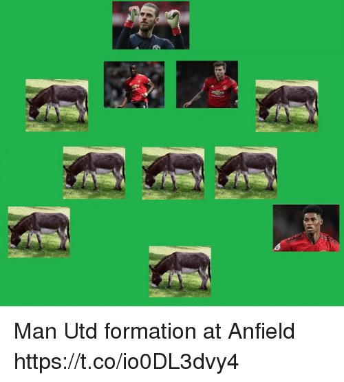 Memes, Formation, and 🤖: Man Utd formation at Anfield https://t.co/io0DL3dvy4
