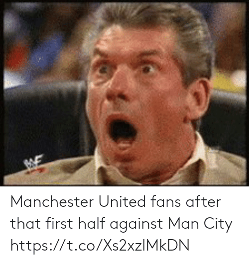 Manchester: Manchester United fans after that first half against Man City   https://t.co/Xs2xzlMkDN