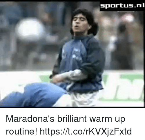 Memes, Brilliant, and 🤖: Maradona's brilliant warm up routine! https://t.co/rKVXjzFxtd
