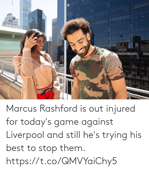 Game: Marcus Rashford is out injured for today's game against Liverpool and still he's trying his best to stop them. https://t.co/QMVYaiChy5