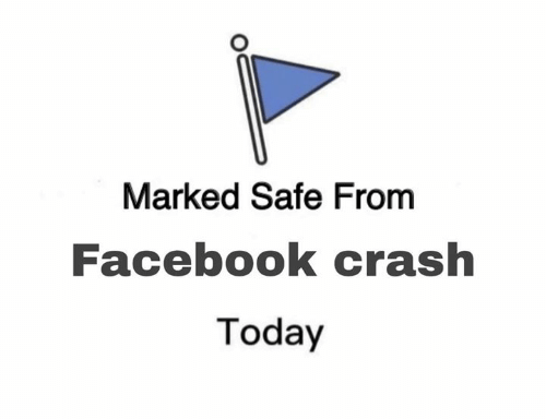 Marked Safe: Marked Safe From  Facebook crash  Today