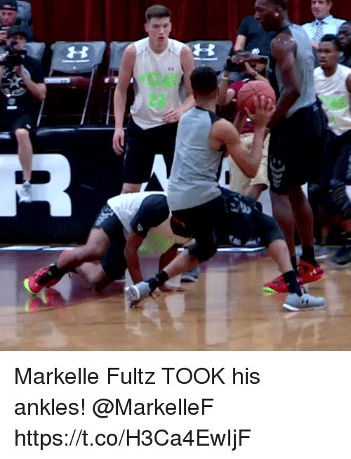 Memes, 🤖, and  Ankles: Markelle Fultz TOOK his ankles! @MarkelleF https://t.co/H3Ca4EwIjF